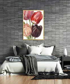 plakat ścienny z tulipanami