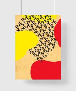 dekoracja pionowa jako plakat