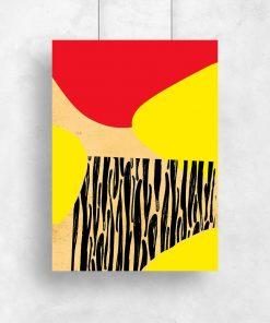 plakat jako dekoracja z plamami