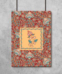 plakat z indyjskimi wzorami