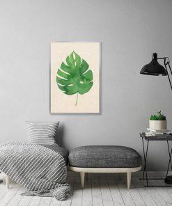 plakat z liściem