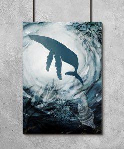 ryba na ciemnym plakacie