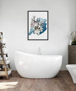 plakat koralowy jako dekoracja