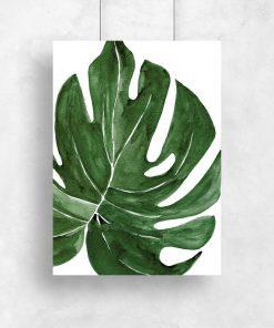 plakat z roślinnym wzorem