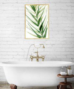 plakat z roślinną ilustracją