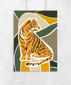 plakat do sypialni z tygrysem
