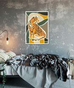 plakat przedstawiający tygrysa