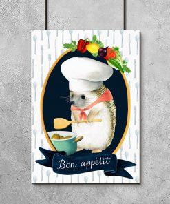 plakat z napisem Bon Appétit