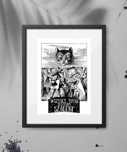 plakat z motywem Alicji w Krainie Czarów