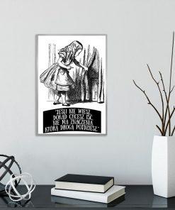 plakat z postacią Alicji