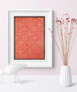 plakat z kafelkami marokańskimi