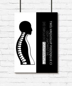 plakat przeznaczony do gabinetu fizjoterapii