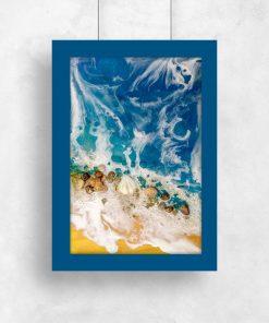 ścienny plakat niebieski