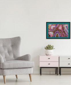 plakat żywiczny jako dekoracja resin art