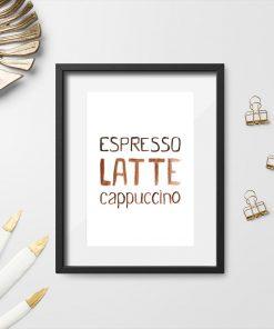 dekoracja z kawą jako plakat ścienny