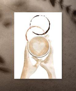 plakat dla miłośników kawy