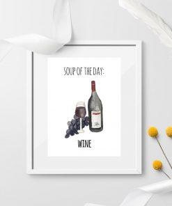 humorystyczny plakat z napisem i winem