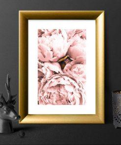 kwiatki różowe jako plakat ścienny