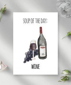 motyw wina jako napisu na plakacie