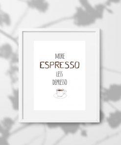plakat ścienny pionowy i kawa