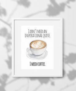 plakat z motywem kawy