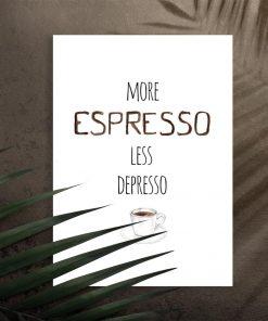 plakat ścienny o espresso