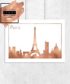 plakat z motywem Francji