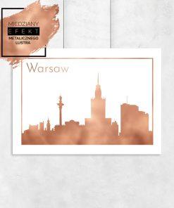 plakat z Warszawą