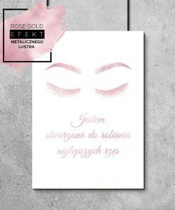 plakat różowo-złoty