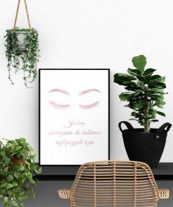 plakat dla stylistki rzęs