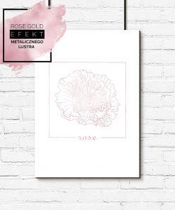 plakat różowe złoto