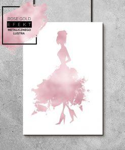 plakat przedstawiający kobietę w sukience