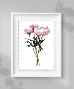plakat ścienny jako dekoracja różowa