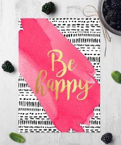 dekoracja o radości jako plakat