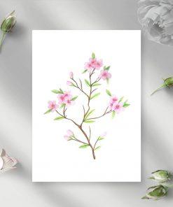 plakat z wiśniową gałązką