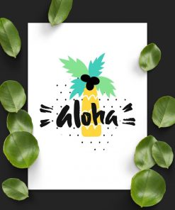 plakat z napisem aloha