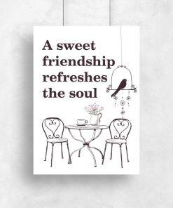 plakat z typografią o przyjaźni