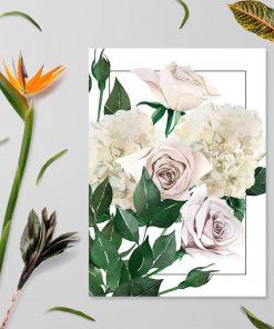 plakat przedstawiający kwiaty