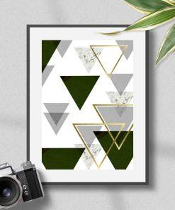 plakat z trójkątami