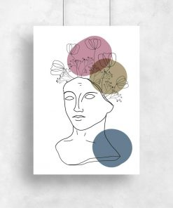 plakat z kobietą