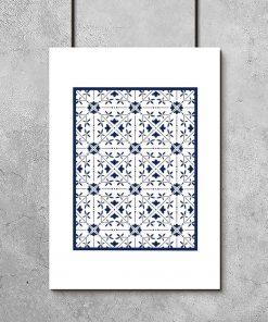 plakat z marokańskim wzorem