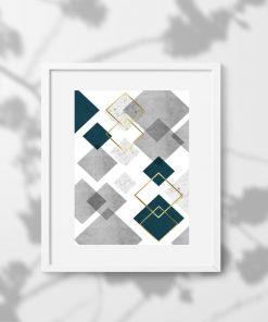 plakat przedstawiający geometryczny wzór