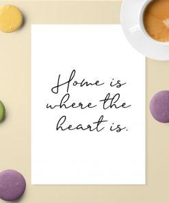 Plakat z motywem złotej myśli o domu