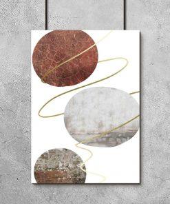 plakat z kamiennym wzorem