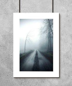 plakat z motywem mgły