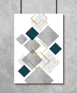plakat z abstrakcją geometryczną