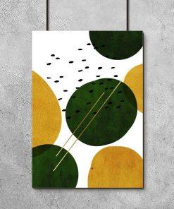 plakat przedstawiający abstrakcyjne koła