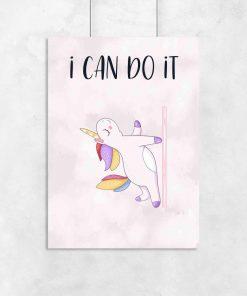 Plakat - I can do it do studia pole dance