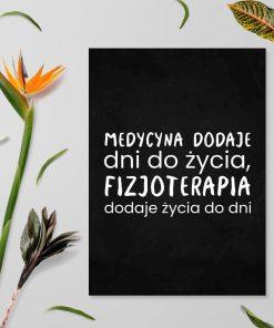 Plakat o fizjoterapii - Fizjoterapia dodaje życia do dni
