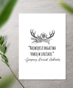 plakat z cytatem australijskiego pisarza Gregory'ego Davida Robertsa